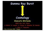 Gamma Ray Burst Cosmology - Inaf
