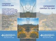 compassion comfort & care - Carondelet.org