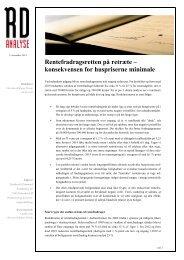 RDs analyse om rentefradragsretten - Realkredit Danmark