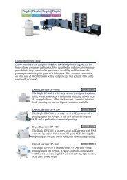 Digital Duprinters range: Duplo Duprinters are ... - Offset Supplies