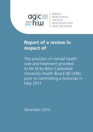 Betsi Cadwaladr UHB - Report - Final Report WEB VERSION - English - JMW DD - 2014-11-06