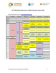 Short programme overview (PDF, 345 kB) - Iuhpe ...