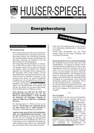 Mai 2013 [PDF, 1.00 MB] - Gemeinde Hausen am Albis