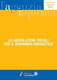 le agevolazioni fiscali per il risparmio energetico - Sportello Fonti ...