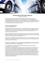 Inhoud workshops EVO Congres wegvervoer