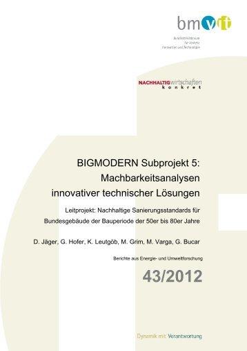 BIGMODERN Subprojekt 5 ... - Haus der Zukunft