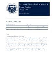 RIASA (Football/Soccer Academy)Fee Sheet for 2013/14