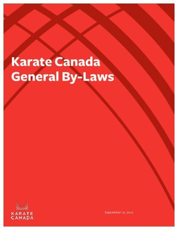 You may click here to view the new and amended ... - Karate Canada