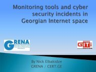 Monitoring Tools and Cyber Security Incidents in ... - E-government.ge