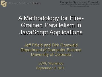 A Methodology for Fine- Grained Parallelism in JavaScript ...