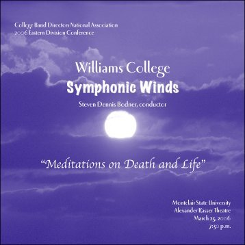 Meditations on Death and Life - Williams Symphonic Winds and ...