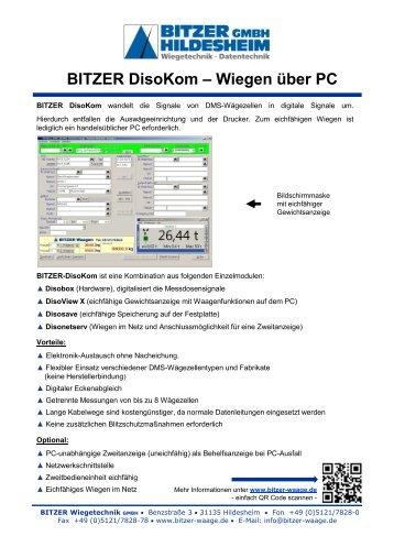 BITZER Diso-Kom X - Bitzer Wiegetechnik GmbH