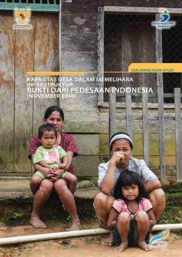 BUKTI DARI PEDESAAN INDONESIA