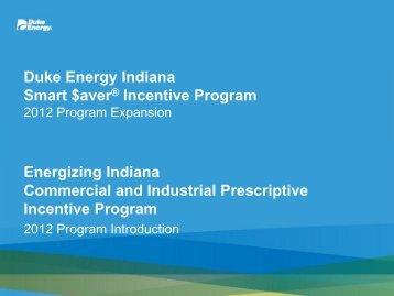 Duke Energy Indiana Smart $aver® Incentive Program ... - Questline