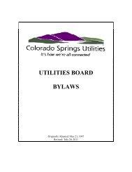 UTILITIES BOARD BYLAWS - Colorado Springs Utilities