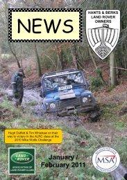 January / February 2011 - Hants & Berks Rover Owners