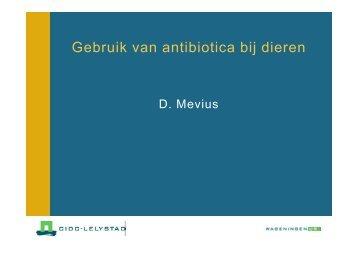 Gebruik van antibiotica bij dieren - SWAB