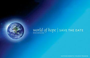 world of hope| save the date - Eastside Domestic Violence Program