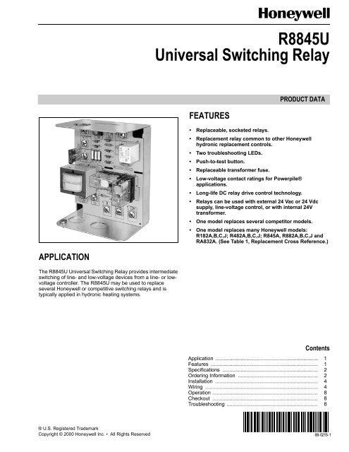 r8845u universal switching relay  pex universe