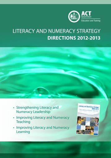 Literacy Numeracy Strategy Directions 2012-2013 - Education and ...
