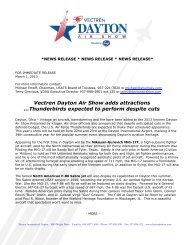 news release * news release * news release - Dayton Air Show
