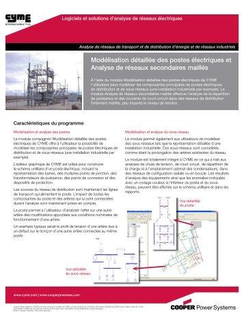Modélisation détaillée des postes électriques et Analyse de réseaux ...