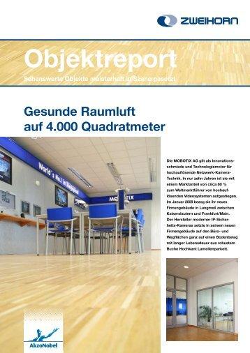Gesunde Raumluft auf 4000 m² - Zweihorn