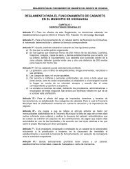 Reglamento para el Funcionamiento de Cabarets en el Municipio ...