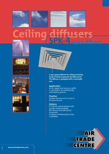 Ceiling diffusers