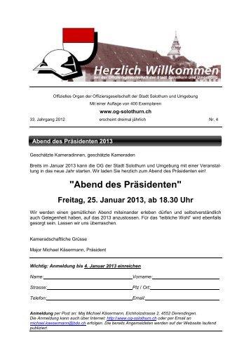 Bulletin 4 - Offiziersgesellschaft Stadt Solothurn & Umgebung
