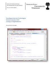 Grundlagen Internet-Technologien Sommersemester 2010 Lösung ...