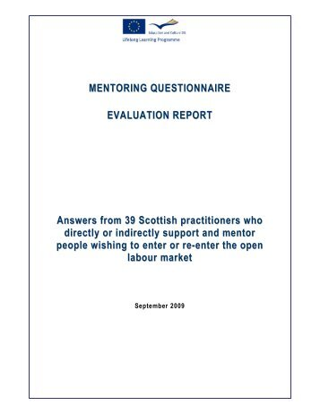 MENTORING QUESTIONNAIRE EVALUATION REPORT Answers ...