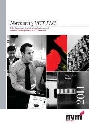 Northern 3 VCT PLC Application Form - Clubfinance