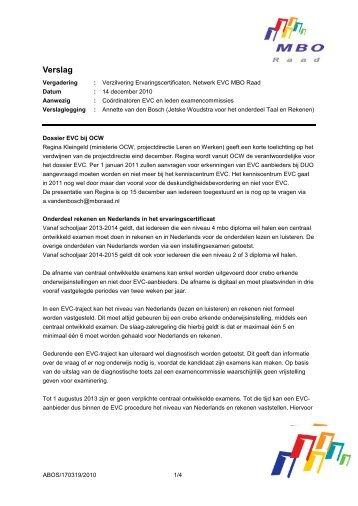 Verslag Regina Kleingeld (ministerie OCW ... - MBO Raad 14 dec ...