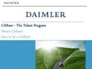 CAReer - The Talent Program - Universum Talent Networks