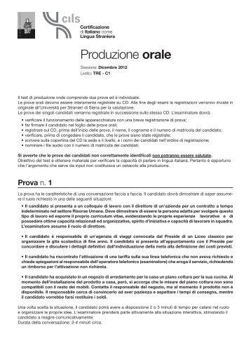 Produzione orale