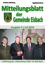 Mitteilungsblatt Ausgabe 3 ~ Juli 2010.pdf - Gemeinde Eisbach