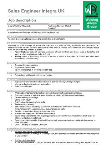 Post-Sales Engineer/ Implementation Specialist Job Description