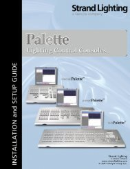 Palette Installation and Setup Guide - Grand Stage Company