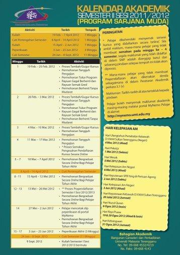KALENDAR AKADEMIK - MyNemo - Universiti Malaysia Terengganu