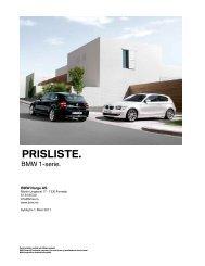 E81 E87 03_2011 Veiledende prisliste - BMW