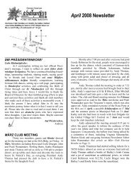 April 2008 Newsletter - German-American Club of Boise, Idaho