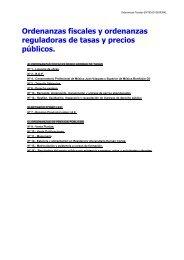 Ordenanzas Fiscales - Diputación de Badajoz
