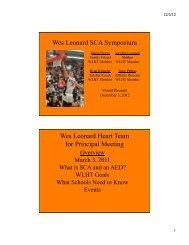 The Wes Leonard Heart Team - Michigan Association of Secondary ...