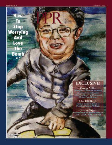 February – Volume VI Issue 1 - Penn Political Review