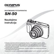Naudojimo instrukcija SH-50 - Olympus