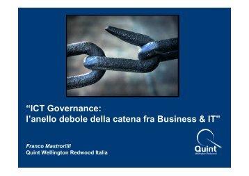 MASTRORILLI - IT Governance Anello Debole tra Business e IT - Aica
