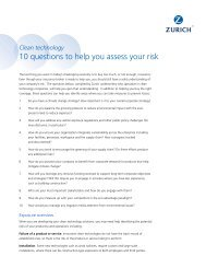 10 questions to help you assess your risk - Corporate Business ...