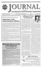 January 2000 - San Francisco Police Officers Association