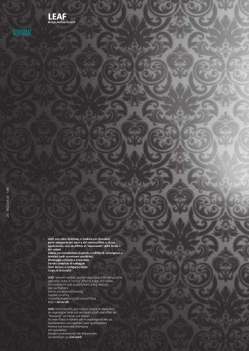 design Andrea Sensoli LEAF, una volta installato, è ... - Buzzi & Buzzi
